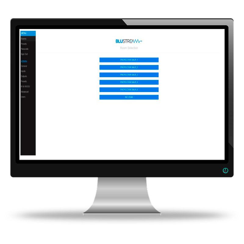 Interfaz web Blustream
